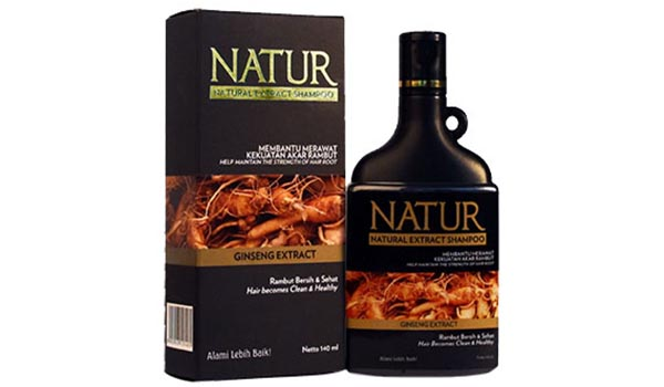 Natur Natural Extract Shampoo with Ginseng Extract, Merk Shampo untuk Rambut Rontok